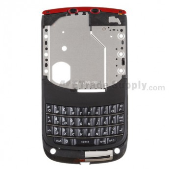For BlackBerry Torch 9800 Middle Metal Plate with Small Parts ,Black - Grade S+