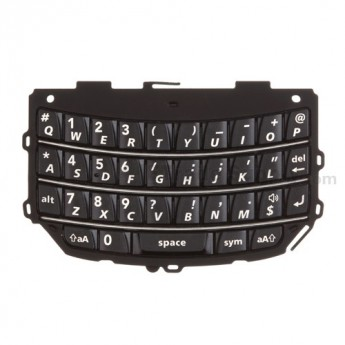 For BlackBerry Torch 9800 QWERTY Keypad Replacement - Black - Grade S+
