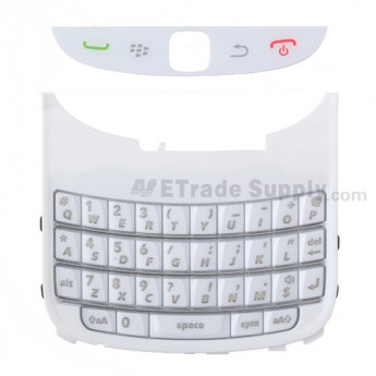 For BlackBerry Torch 9800 QWERTY Keypad with Bezel Replacement ,Black - Grade S+