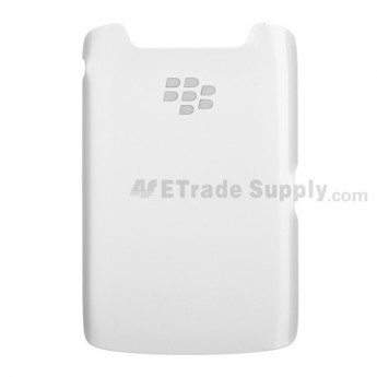 For BlackBerry Torch 9860/9850 Battery Door Replacement - White - Without Carrier Logo - Grade S+
