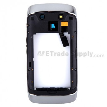 For BlackBerry Torch 9860, 9850 Rear Housing Assembly with Bezel Replacement ,Black - Grade S+