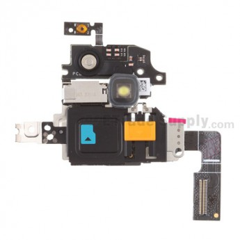 For BlackBerry Torch 9860, 9850 SIM Card Reader Contact with Bracket Replacement - Grade S+