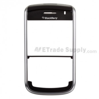 For BlackBerry Tour 9630 Front Housing with Top Cover Replacement ,Silver - Grade S+