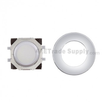 For BlackBerry Tour 9630 White Trackball Assembly with White Inner Ring & Silver Outer Ring Replacement - Grade S+