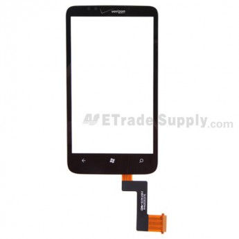 For HTC 7 Trophy Digitizer Touch Screen without Adhesive Replacement - With Logo - Grade S+