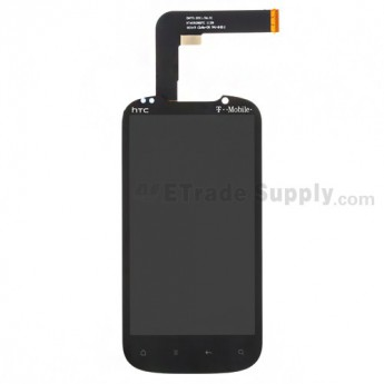 For HTC Amaze 4G LCD Screen and Digitizer Assembly with Light Guide Replacement - With Logo - Grade S+