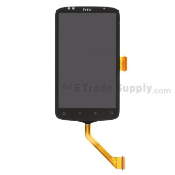 For HTC Desire S LCD Screen and Digitizer Assembly with Light Guide ,Wide Flex Cable Ribbon Replacement - Grade S+