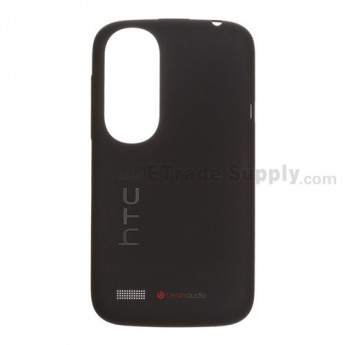 For HTC Desire V T328W Battery Door Replacement - Black - Grade S+