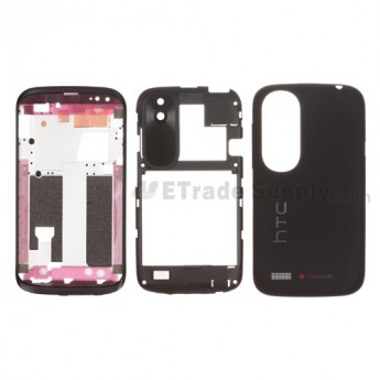 For HTC Desire V T328W Housing Replacement - Black - Grade S+