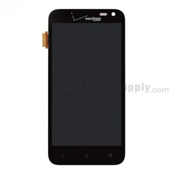 For HTC Droid Incredible 4G LTE LCD Screen and Digitizer Assembly with Light Guide  Replacement ,Black, With Logo - Grade S+