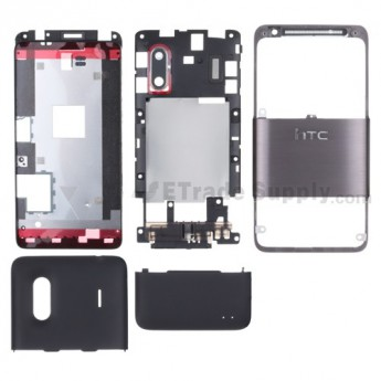 For HTC Hero S Housing Replacement - Black - Grade S+