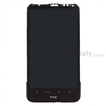 For HTC Inspire 4G LCD and Digitizer Assembly with Front Housing Replacement - Black - With Logo - Grade S+