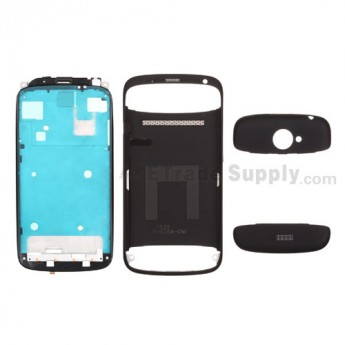 For HTC One S Complete Housing Replacement - Black - Grade A