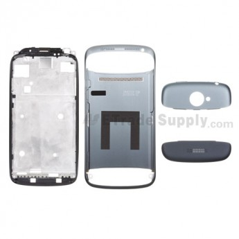 For HTC One S Complete Housing Replacement - Silver Gray - Grade S+