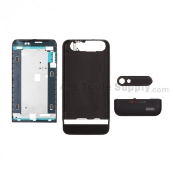 For HTC One V Complete Housing Replacement - Black - Grade S+