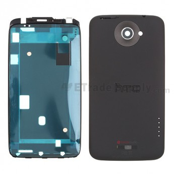 For HTC One X Housing Replacement (AT&T) - Black - Grade S+