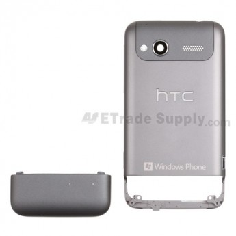 For HTC Radar Battery Door with Rear Housing Replacement - Gray - Grade S+