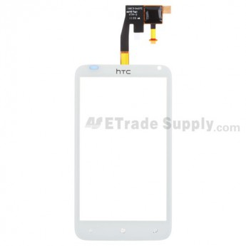 For HTC Radar Digitizer Touch Panel Replacement (With Logo) - White - Grade S+