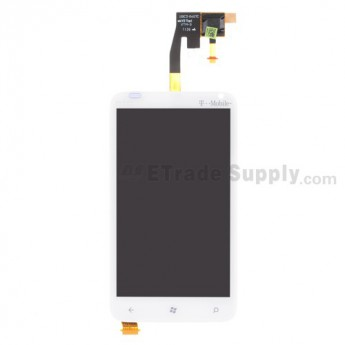 For HTC Radar LCD Screen and Digitizer Assembly Replacement (T -Mobile) - White - Grade S+
