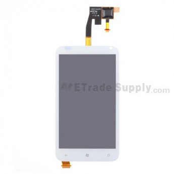 For HTC Radar LCD Screen and Digitizer Assembly Replacement - White - With Logo - Grade S+
