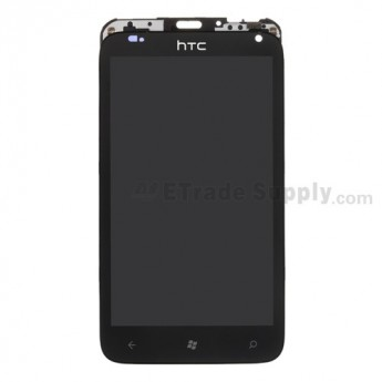 For HTC Radar LCD Screen and Digitizer Assembly with Front Housing Replacement ,Black - Grade S+