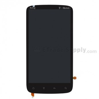 For HTC Sensation 4G LCD Screen and Digitizer Assembly with Microphone Flex Cable Ribbon  Replacement - With Logo - Grade S+