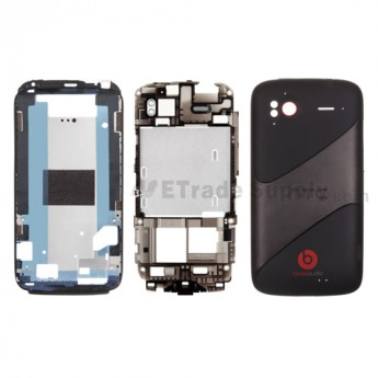 For HTC Sensation XE Housing Replacement - Black - With Logo - Grade S+