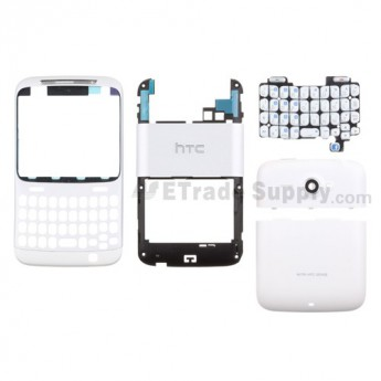 For HTC Status Complete Housing Replacement (AT&T) - White - Grade S+