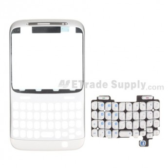For HTC Status Front Housing with Keypad Replacement (AT&T) ,White - Grade S+