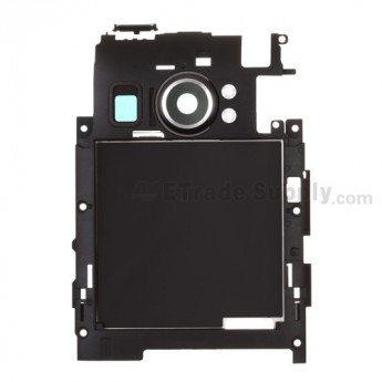 For HTC Titan II Middle Plate Replacement - Black - Grade S+