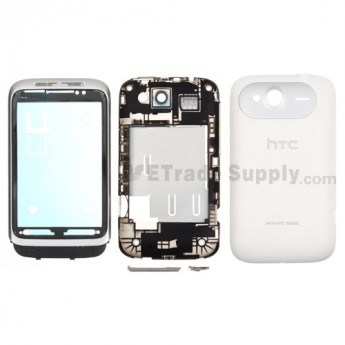 For HTC Wildfire S Housing Replacement (T-mobile) - White - Grade S+