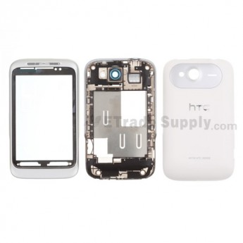 For HTC Wildfire S Housing Replacement - Silver - Grade S+