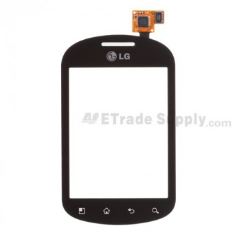 For LG Optimus Chat C550 Digitizer Touch Panel Replacement - Black - Grade S+
