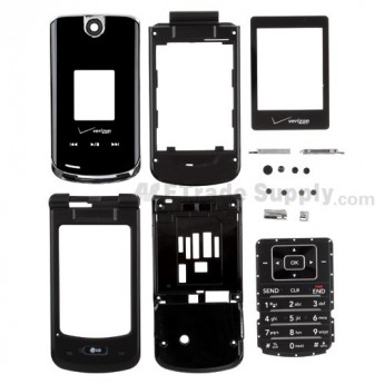 For LG VX8600 Housing Replacement - Black - Grade S+