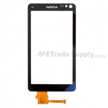 For Nokia N8, N8-00 Digitizer Touch Screen  Replacement ,Black - Grade S+