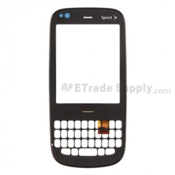For Palm Pixi Digitizer Touch Screen with Front Housing Replacement (Sprint) - Grade A