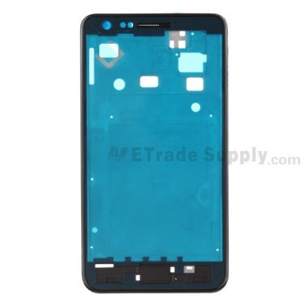 For Samsung Galaxy S II i9100 Front Housing with Middle Plate Replacement - Black - Grade S+