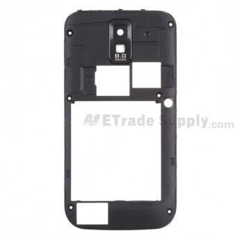 For Samsung Galaxy S II SGH-T989 Rear Housing Replacement - Black - Grade S+