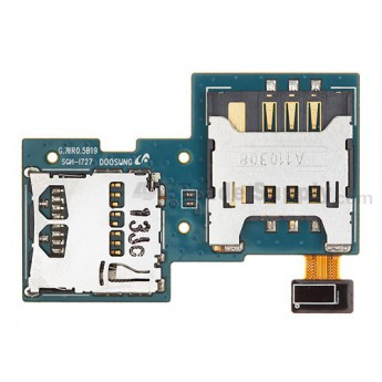 For Samsung Galaxy S II Skyrocket SGH-I727 SIM Card and SD Card PCB Board Replacement - Grade S+