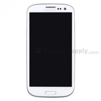 For Samsung Galaxy S III (S3) GT-I9300 LCD Screen and Digitizer Assembly with Front Housing Replacement - White - Grade S+
