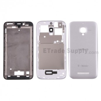 For Alcatel One Touch Fierce Housing Replacement - Silver Gray - With Logo - Grade S+