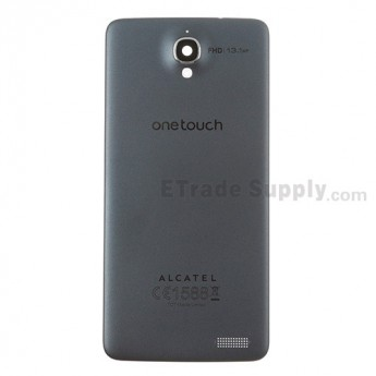 For Alcatel One Touch Idol X OT-6040D Battery Door Replacement - Gray - With Logo - Grade S+