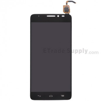 For Alcatel One Touch Idol X OT-6040D LCD Screen and Digitizer Assembly  Replacement - Black - Without Any Logo - Grade S+
