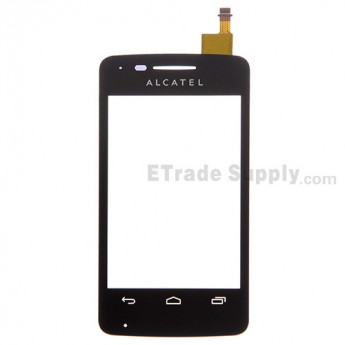 For Alcatel One Touch T'Pop OT-4010 Digitizer Touch Screen Replacement - Black - With Logo - Grade S+