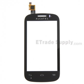 For Alcatel One Touch Pop C3 OT-4033 Digitizer Touch Screen Replacement - Black - With Logo - Grade S+