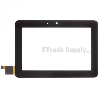 For Amazon Kindle Fire HD 7 Digitizer Touch Screen with Adhesive Replacement - Black - Without Any Logo - Grade S+