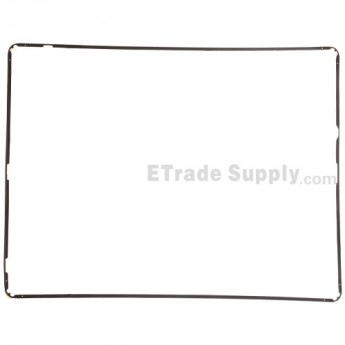 For Apple iPad 2 Digitizer Frame with Adhesive Replacement - Black - Grade S+