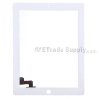 For Apple iPad 2 Digitizer Touch Screen Replacement - White - Grade S