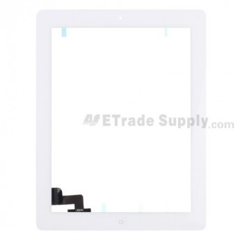 For Apple iPad 2 Digitizer Touch Screen Assembly Replacement (Wifi Plus 3G Version) - White - Grade S