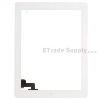 For Apple iPad 2 Digitizer Touch Screen Assembly Replacement (Wifi Version) - White - Grade S